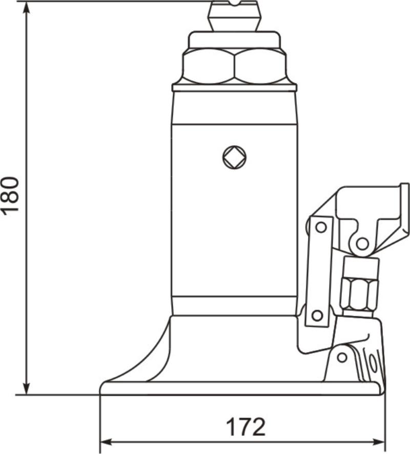 Домкрат гидравлический ДГ5-